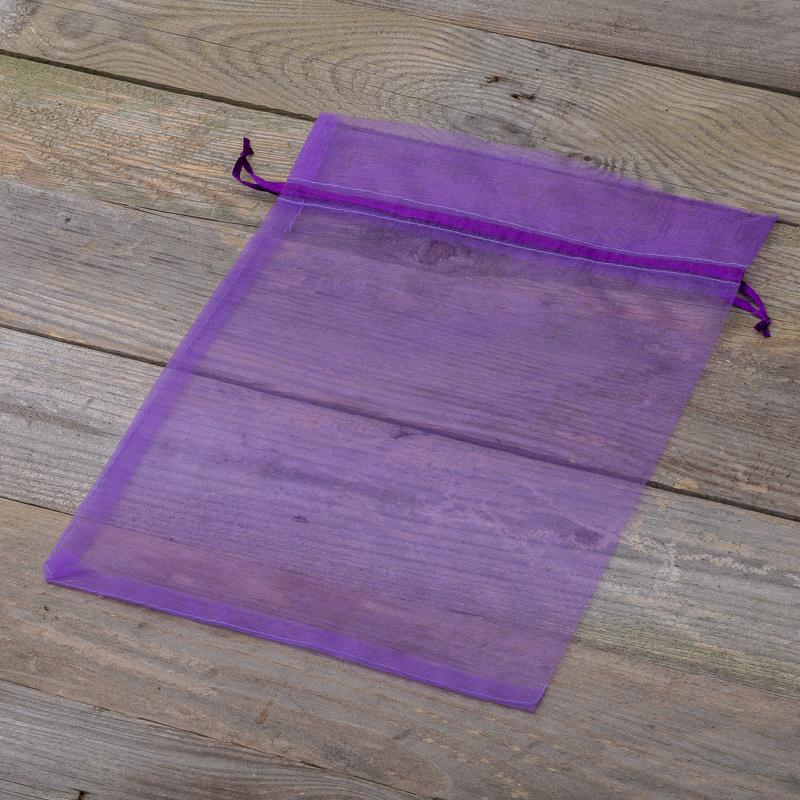c11bde8d61456 Woreczki z organzy 26 x 35 cm - fioletowe ciemne. Dotknij