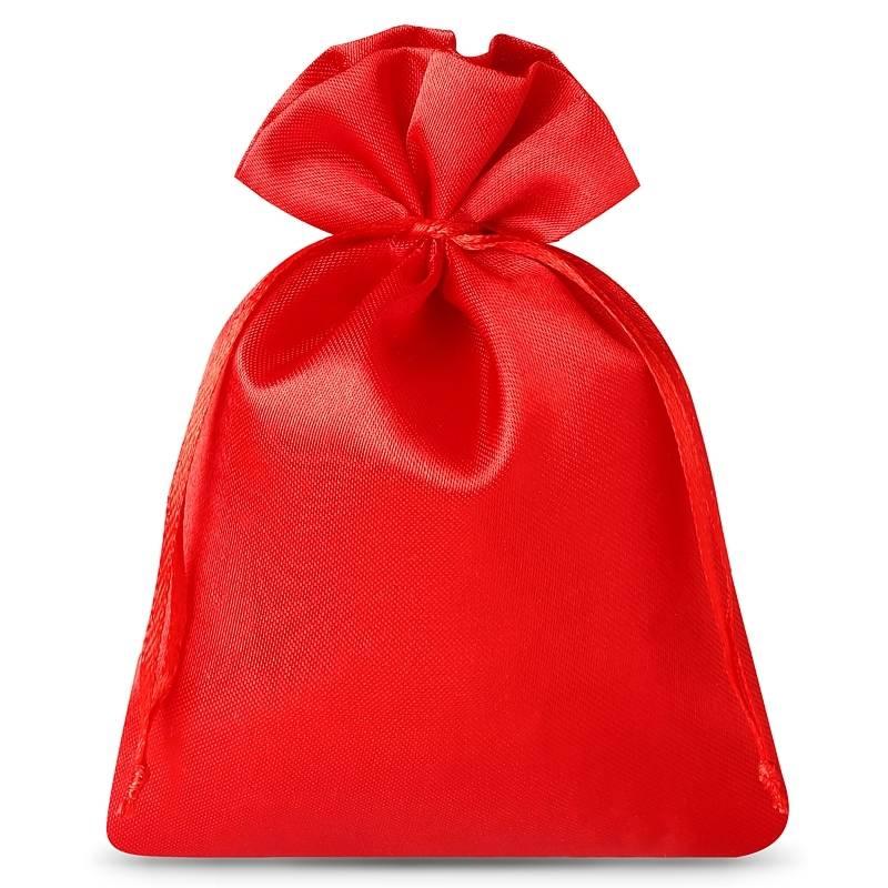 10 szt. Woreczki satynowe 6 x 8 cm - czerwone