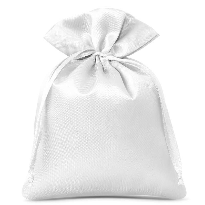 10 szt. Woreczki satynowe 6 x 8 cm - białe