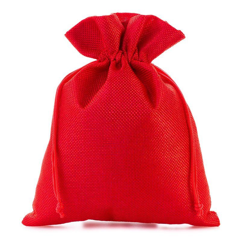 5 szt. Woreczki jutowe 15 x 20 cm - czerwone