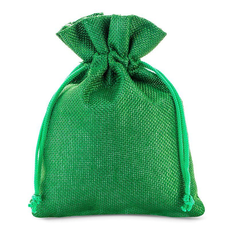 10 szt. Woreczki jutowe 12 x 15 cm - zielone