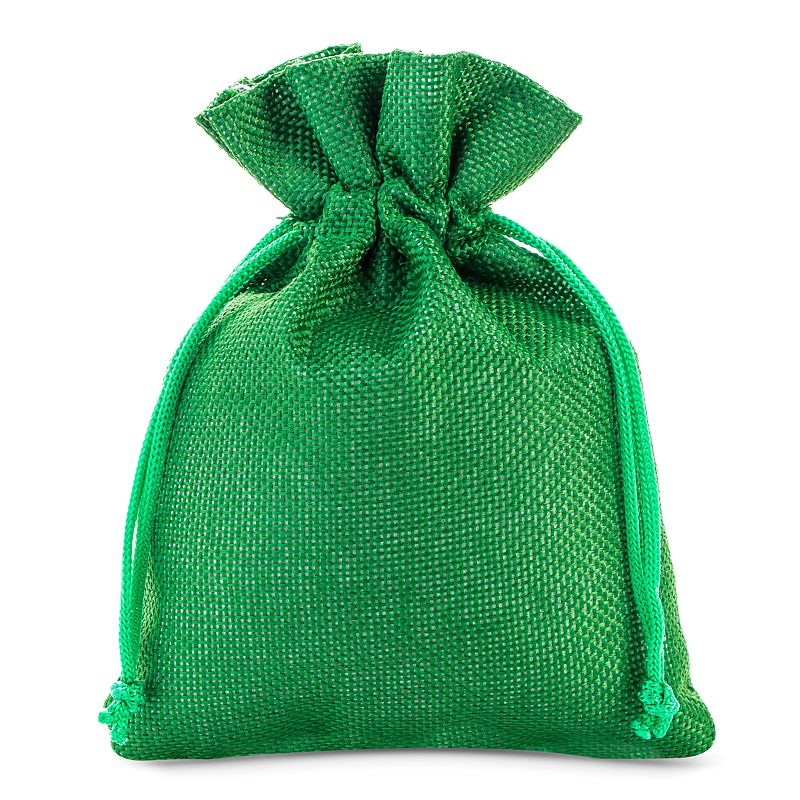 5 szt. Woreczki jutowe 18 x 24 cm - zielone