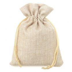 11 szt. Woreczki wielkanocne, jutowe 12 x 15 cm - naturalne jasne Woreczki na Wielkanoc