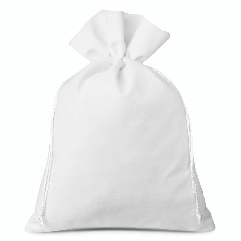 1 szt. Woreczek welurowy 30 x 40 cm - biały
