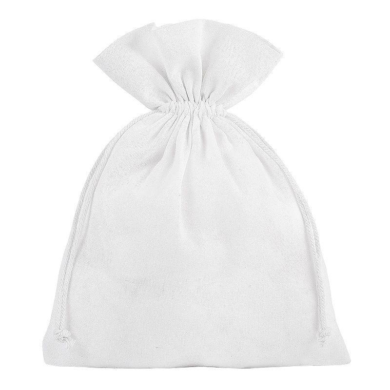 5 szt. Woreczki bawełniane 18 x 24 cm - białe