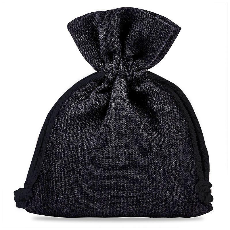 10 szt. Woreczki z bawełny 10 x 13 cm - czarne