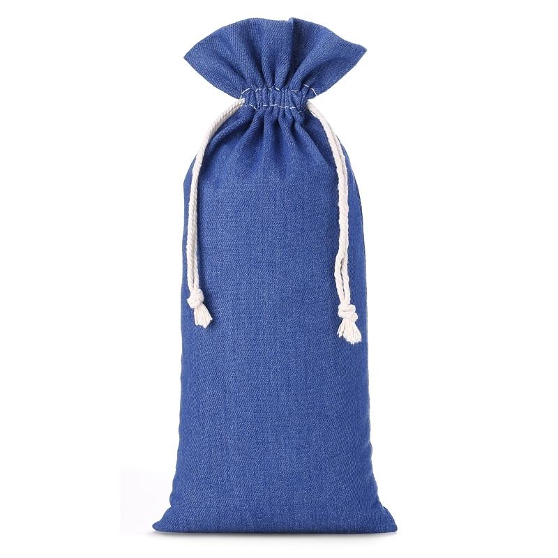 1 szt. Woreczek z jeansu 16 x 37 cm - niebieski