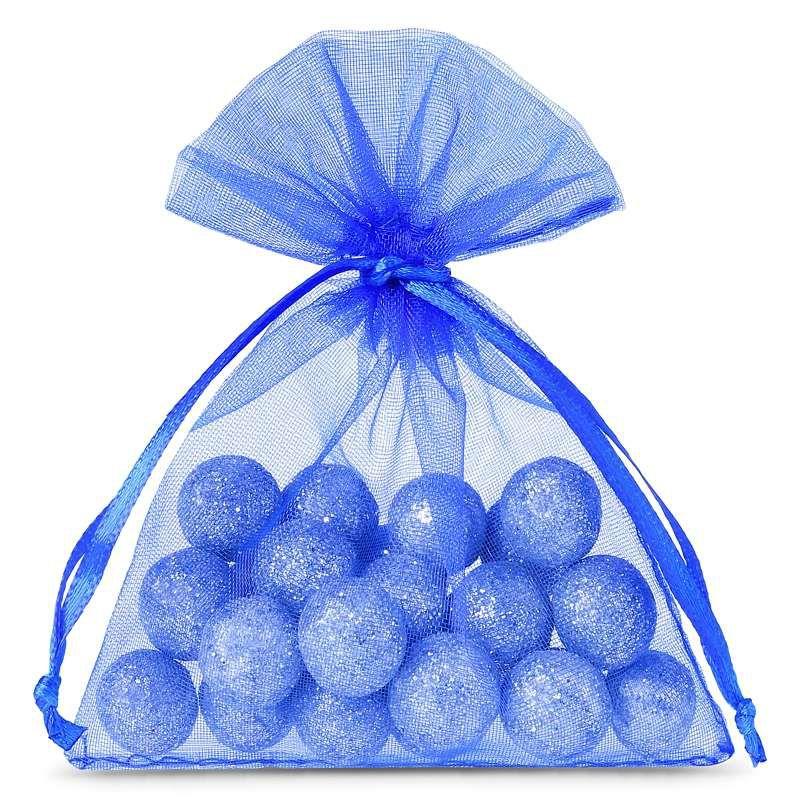 25 szt. Woreczki z organzy 8 x 10 cm - niebieskie
