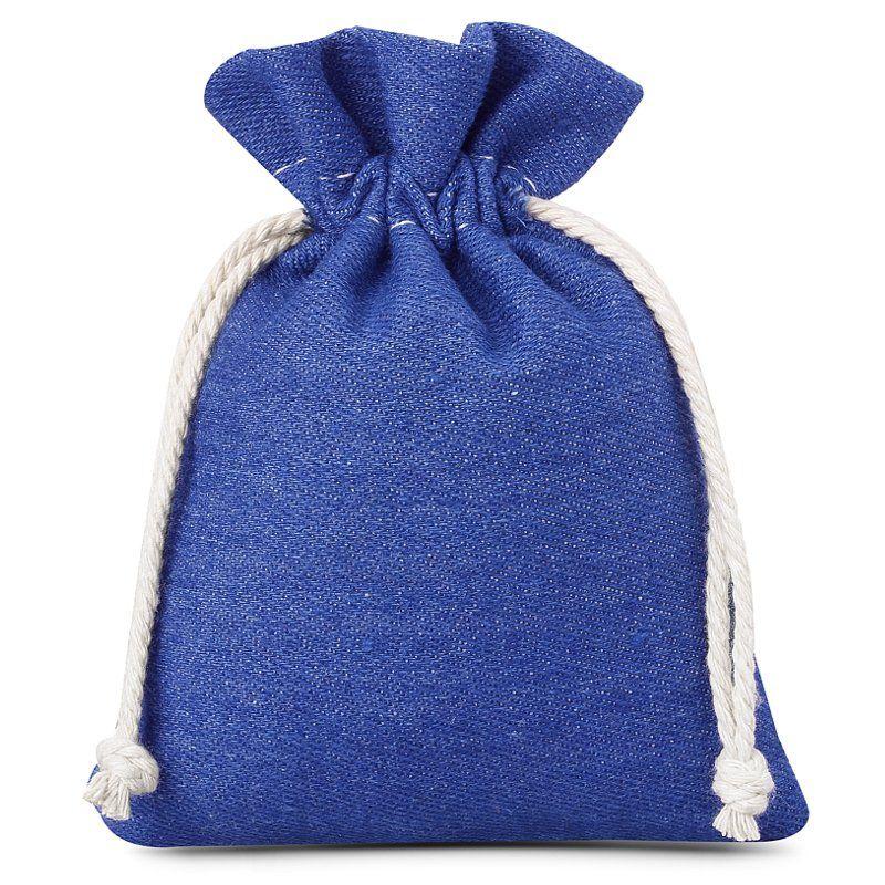 3 szt. Woreczki z jeansu 12 x 15 cm - niebieskie