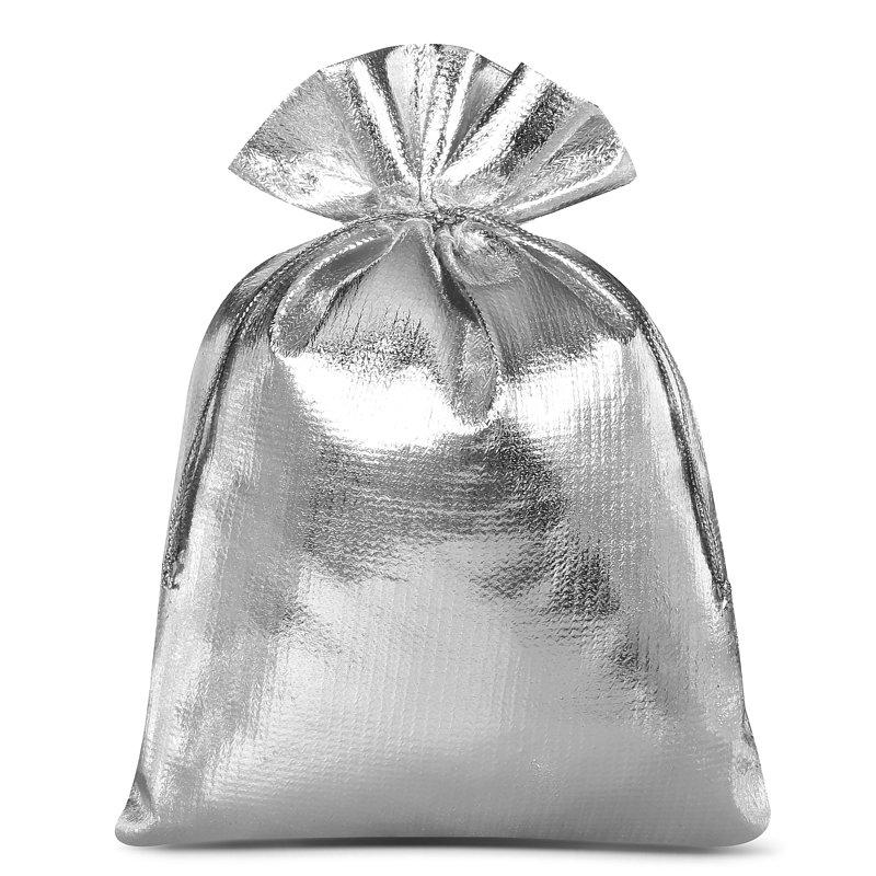 10 szt. Woreczki metaliczne 13 x 18 cm - srebrne