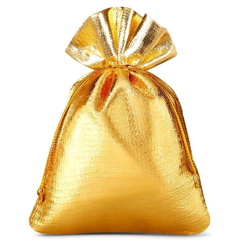 10 szt. Woreczki metaliczne 8 x 10 cm - złote Woreczki metaliczne