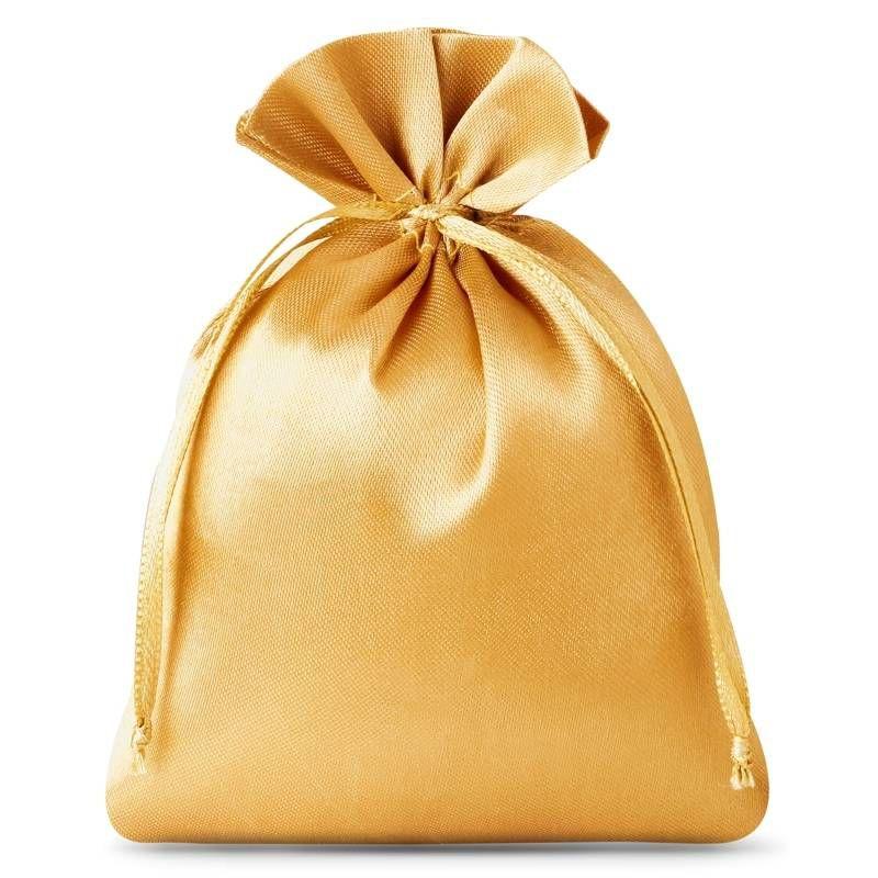 10 szt. Woreczki satynowe 8 x 10 cm - złote