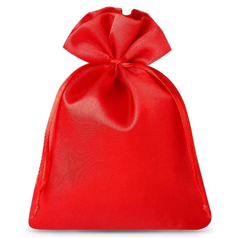 10 szt. Woreczki satynowe 10 x 13 cm - czerwone