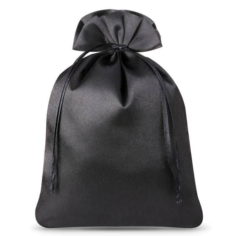 5 szt. Woreczki satynowe 18 x 24 cm - czarne