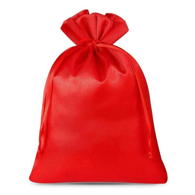 5 szt. Woreczki satynowe 22 x 30 cm - czerwone