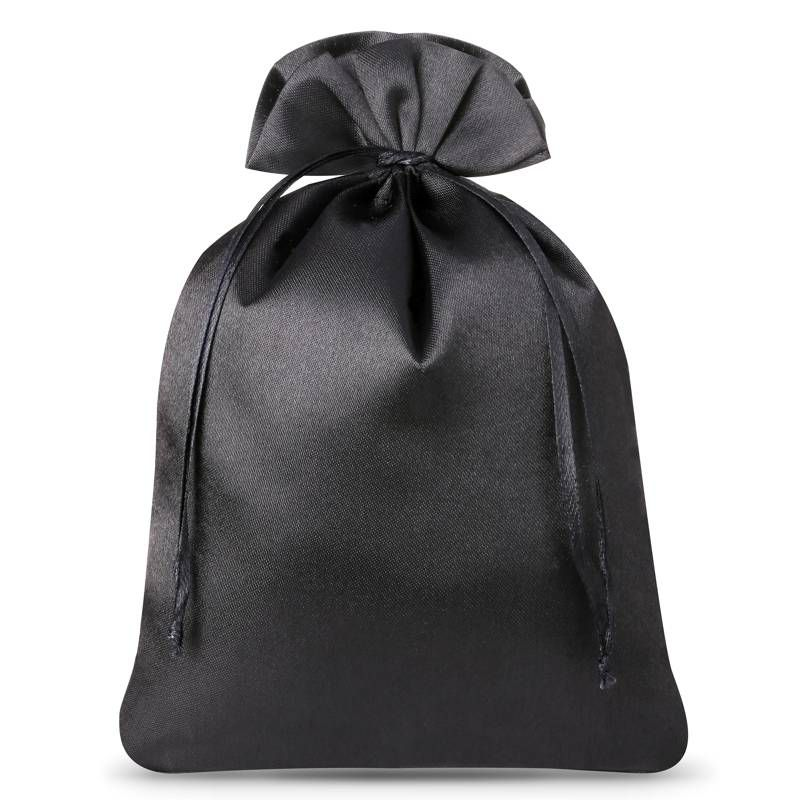 5 szt. Woreczki satynowe 22 x 30 cm - czarne