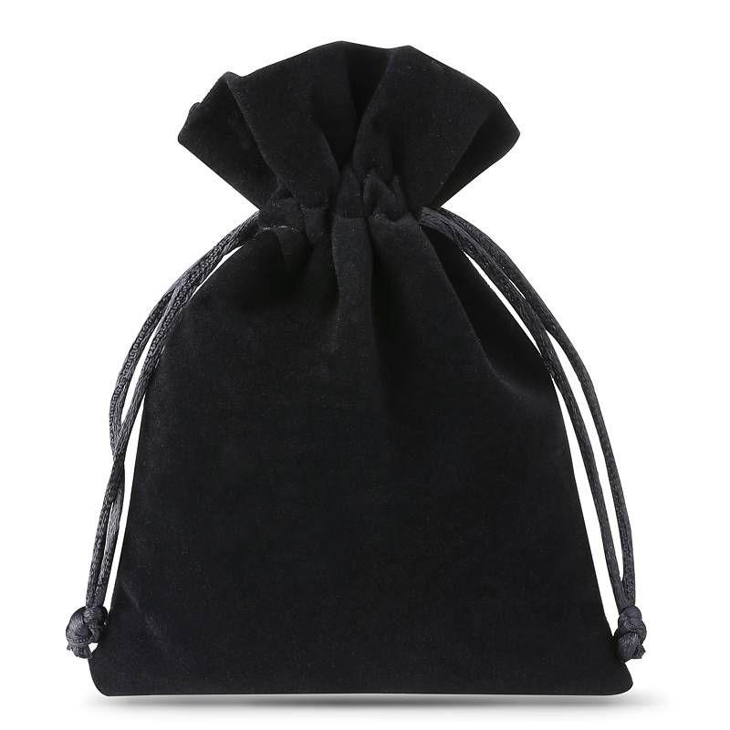10 szt. Woreczki welurowe 8 x 10 cm - czarne