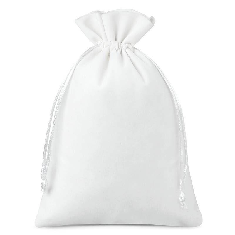 10 szt. Woreczki welurowe 12 x 15 cm - białe