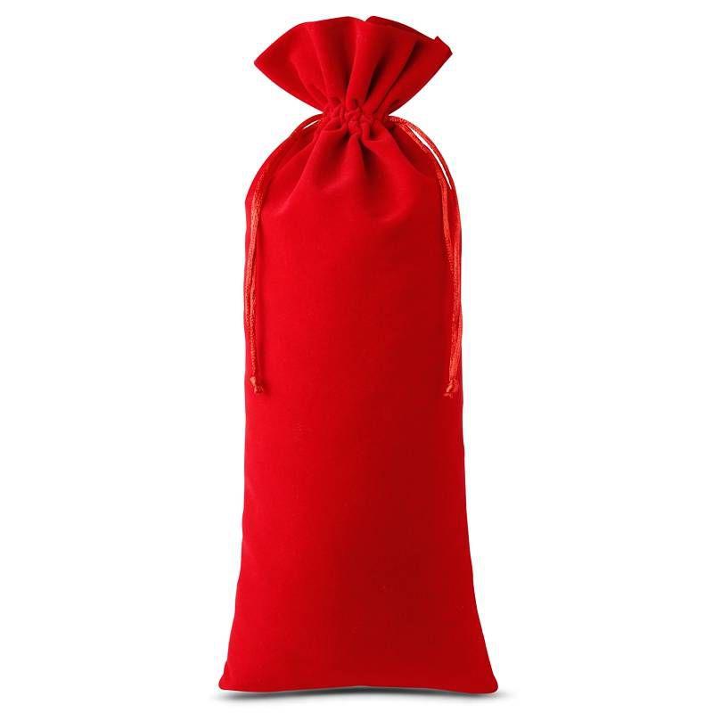 1 szt. Woreczek welurowy 16 x 37 cm - czerwony
