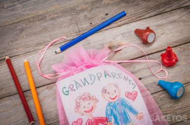 Laurka dla dziadków zapakowana w woreczek