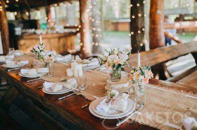 Alternatywa dla obrusu na rustykalne wesele