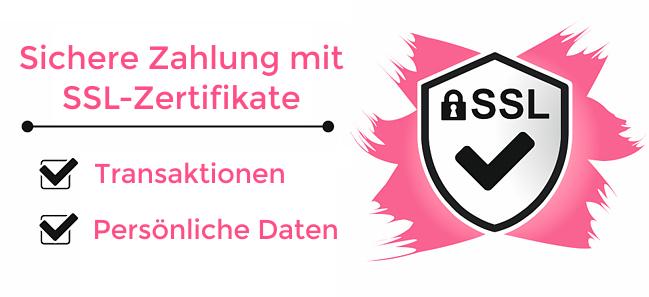 Sichere Zahlung mit SSL-Zertifikate